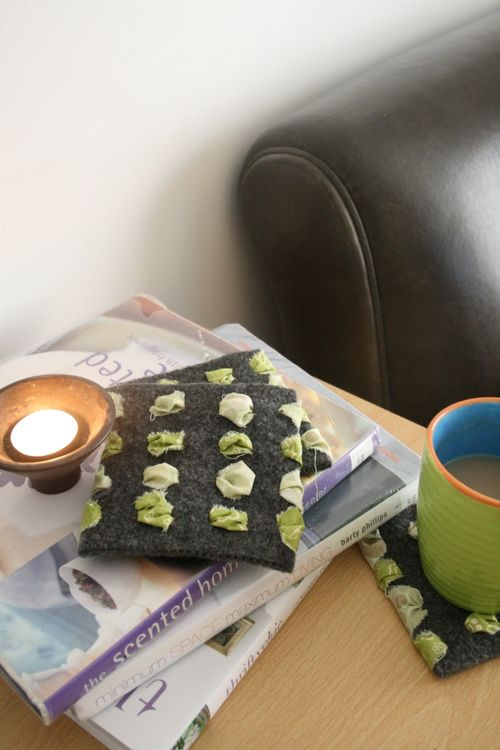 Repurposed Sweater Coasters