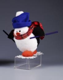 Styrofoam Craft Project Skiing Penguin