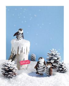 Pincone Penguins from Martha Stewart