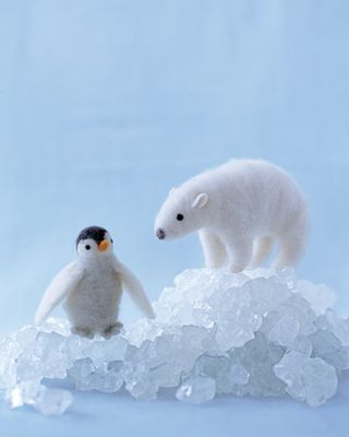 Needle felted penguin Martha Stewart