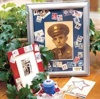 Postage stamp frames