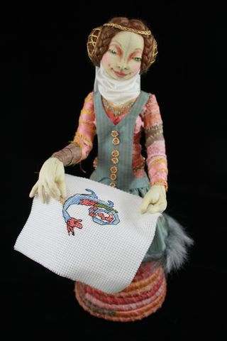 Colleen Babcock Stitch in Time Cloth Doll