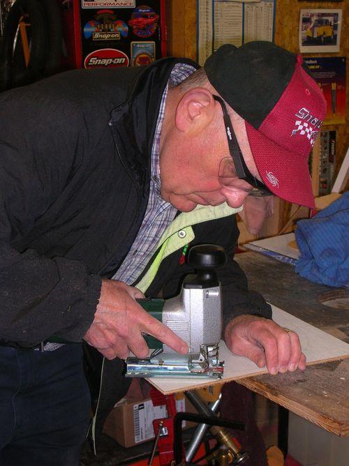 Barry Babcock making the Babcock clock