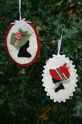 Regency Ladies Silhoutte Ornament Tutorial