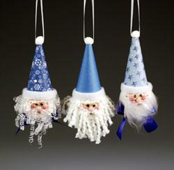 Cool blue santa ornament tutorial
