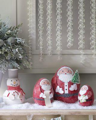 Martha Stewart Glittered Santa boxes