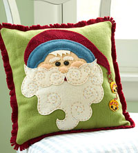 Jolly Claus Pillow Better Homes and Gardens