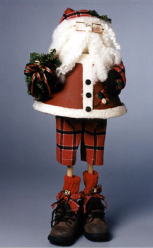 Lampshade Suited Santa