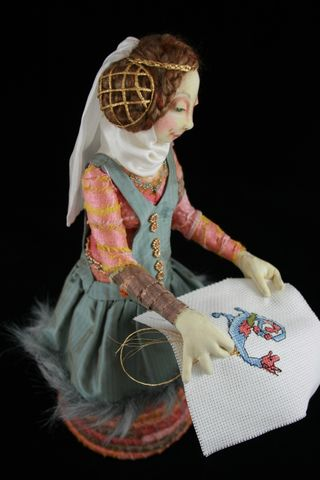 Medieval stump doll by Colleen Babcock