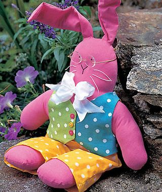 Pink Fabric rabbit from Women's Day
