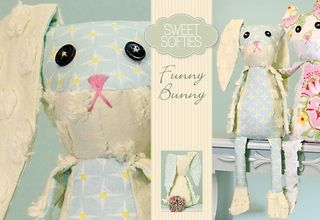 Funny Bunny tutorial at Sew 4 Home