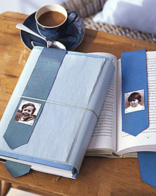 Fabric photo bookmark