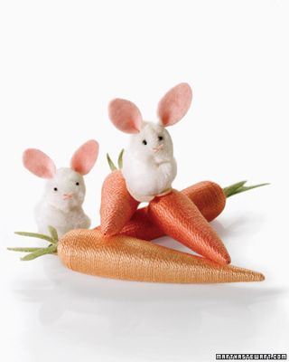 Bunnies and carrots from Martha Stewart