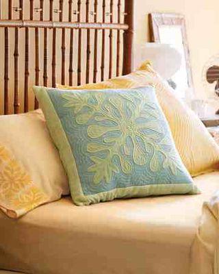 Hawaiin quilted pillow martha stewart