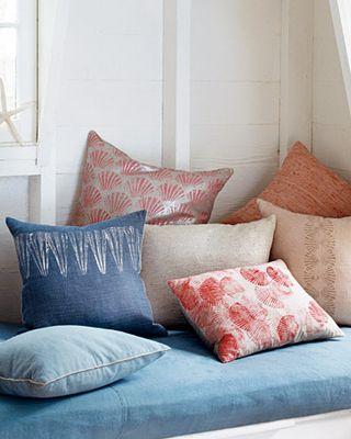Martha stewart sea shell pillows