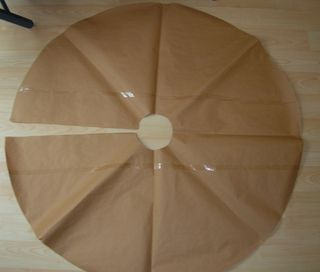 Christmas tree skirt completed template