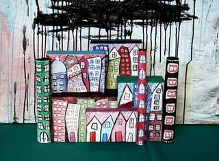 Alisa burke painted and recycled city scape