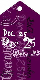 Christmas tag plum