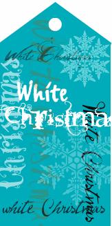 White Christmas Blue Tag