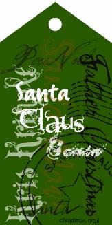 Santa tag deep green
