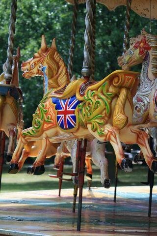 Union Jack Carousel Horse
