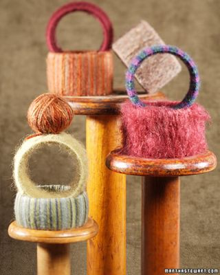 Wool wrapped bangles