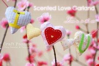 Heart garland sachet