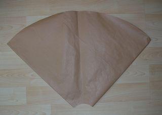 Paper template tree skirt
