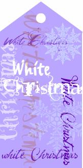 White Christmas purple tag
