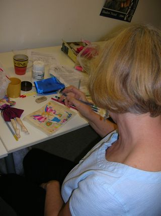 Jenny at Blue Haze Colleen Babcock class