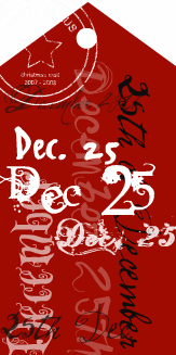 Christmas Tags Red