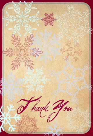 4 x 6 Thank You Card front