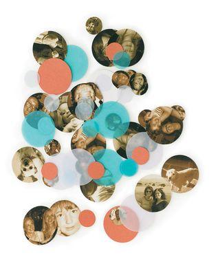 Photo confetti from Martha Stewart