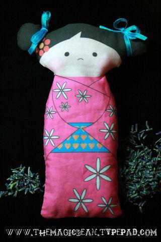 Free Kokeshi Panel Doll Lavender Sachet Colleen