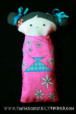 Panel Kokeshi Doll by Colleen