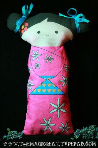 Kokeshi Doll Lavender Sachet Panel Doll Free