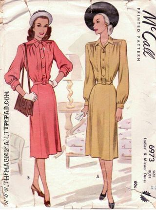 1943 McCall's Pattern The Magic Bean
