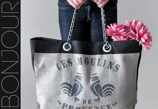 French Market Tote with Coco Chanel Handles