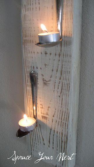 Spruce your nest tea light holder