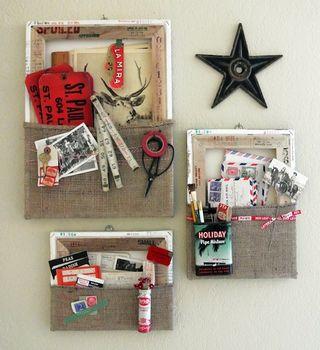 Reverse canvas wall pockets