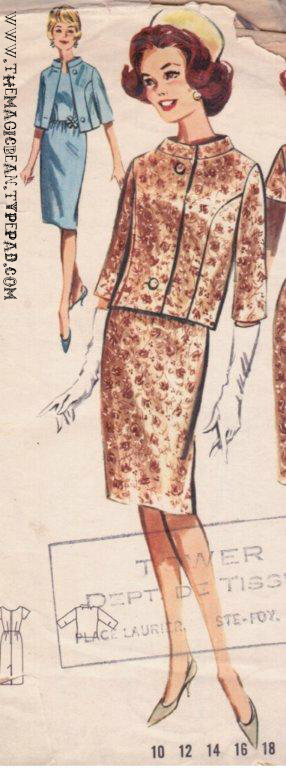 Vintage Butterick pattern 1962
