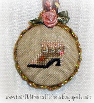 Free tutorial for cross stitched scissor fobs