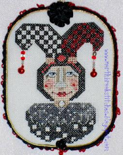 Free jester cross stitch chart Romona King