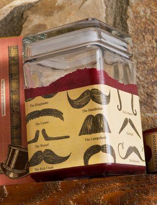 Mustache jar