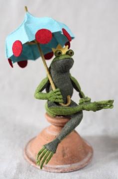 Miniature felt umbrella