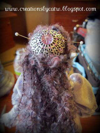 Eolande Art Doll by Cat Woody with Renaisaance hair piece