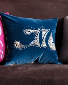 Monogram-pillow- tutorial martha stewart