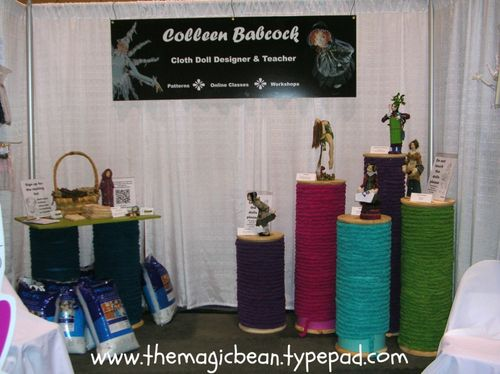 Thread spools for display for exhibits shops or studios