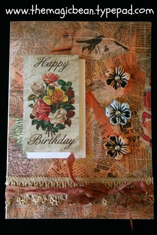 Birthday card the Magic Bean cardmaking