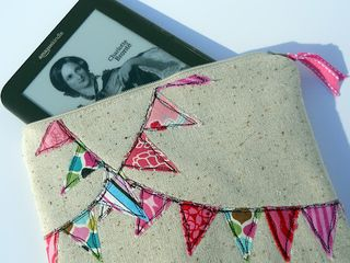 Bunting kindle case tutorial